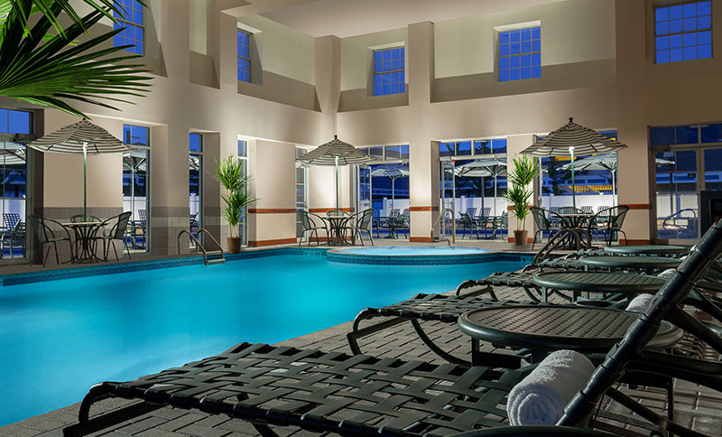 Indoor/Outdoor Pools in North Conway Grand Hotel, New Hampshire